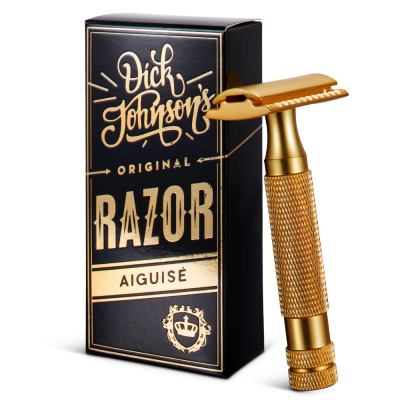 Dick Johnson Excuse My French Razor Aiguise Gold  (closed comb)