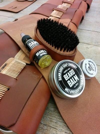 Damn Good Soap Company Leather Beard Care Set