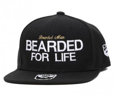 Bearded Man Apparel Bearded for Life Black Snapback