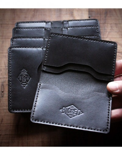 Big Red Bi-Fold Wallet – Black