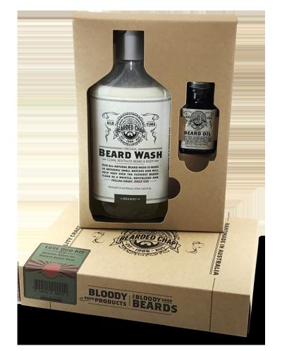 The Bearded Chap Luxe Beard Duo Kit - Brawny