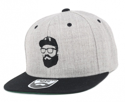 Bearded Man Apparel Cap Man Grey/Black Snapback