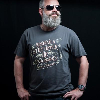 Captain Fawcett T-shirt Keeping a Stiff Upper Lip