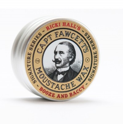 Captain Fawcett Moustache Wax Ricki Hall's Booze & Baccy