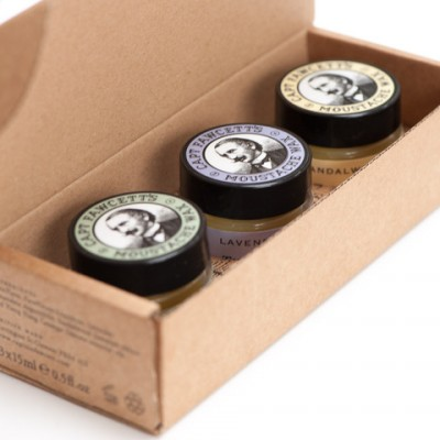Captain Fawcett Moustache Wax Cornucopia Box