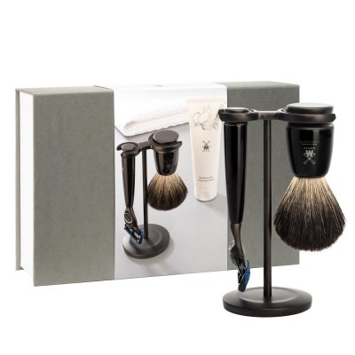Muhle Rytmo Shaving Set Fusion / Dark Badger
