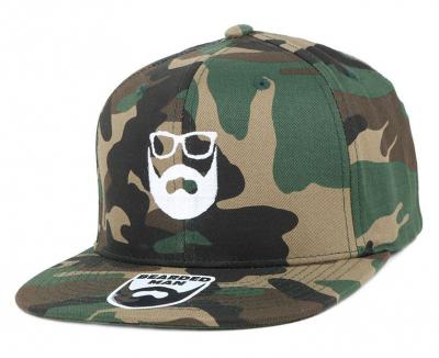 Bearded Man Apparel Logo Green Camo Snapback