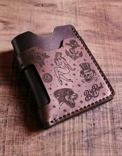 Big Red Beard Minimalist Wallet - Tattoo Edition