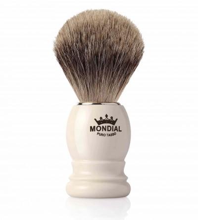 Mondial Basic Shaving Brush Fine Badger, Ivory