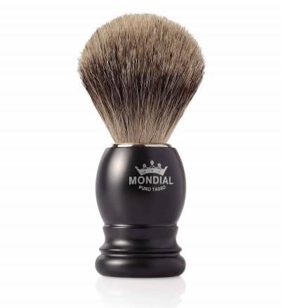 Mondial Basic Shaving Brush Fine Badger, Satin Black