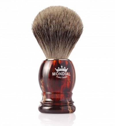 Mondial Basic Shaving Brush Fine Badger, Tortoise Shell