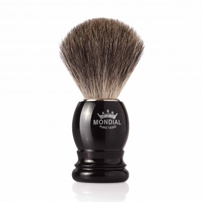 Mondial Basic Shaving Brush Grey Badger, Black