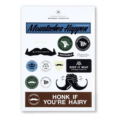 Movember Stickers A4 Set