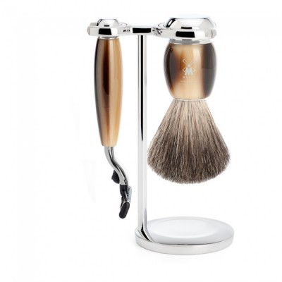 Muhle Vivo Shaving Set Mach3 Razor + Brush, Corne