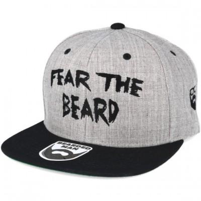Bearded Man Apparel Fear The Beard Grey/Black Snapback
