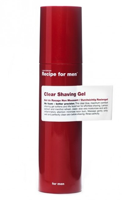Recipe for men Clear Shaving Gel