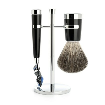 Mühle Liscio Shaving Set Fusion + Shaving Brush Noir