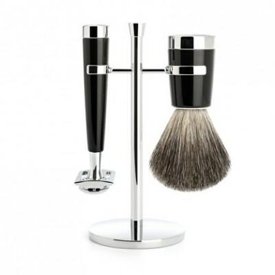 Mühle Lisco Shaving Set Safety Razor + Shaving Brush Noir