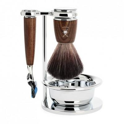Mühle Rytmo Shaving Set Fusion + Brush + Bowl, Ash