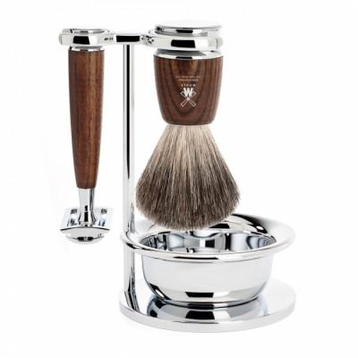 Muhle Rytmo Shaving Set Safety Razor + Brush + Bowl, Ash