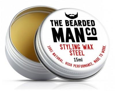 The Bearded Man Company Moustache Wax Steel