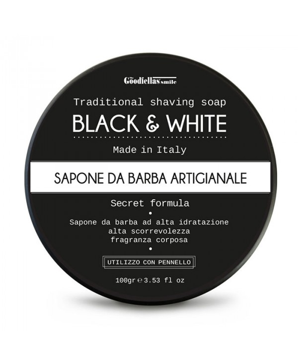 The Goodfellas' Smile Black & White Traditional Shaving Soap