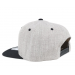 Bearded Man Apparel Cap Man Grey/Black Snapback