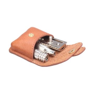 Yaqi Travel Safety Razor With Leather Pouch