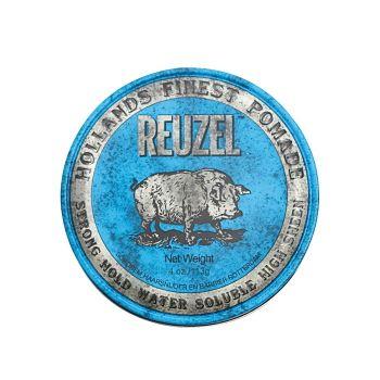 Reuzel Strong Hold Pomade Water Soluble Blue Hog