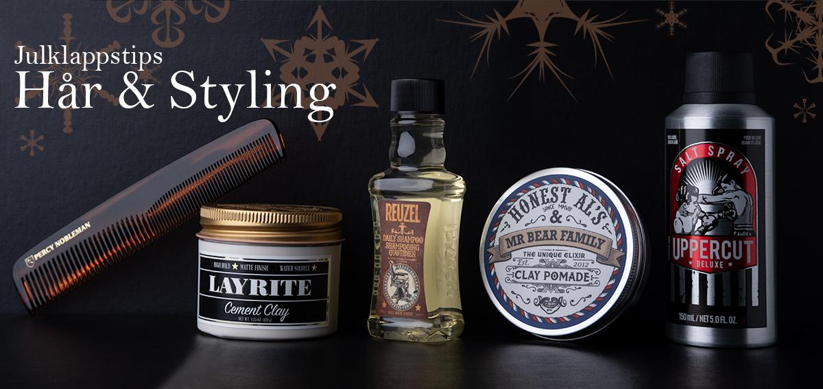julklappstips hårvård och styling för män